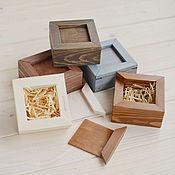 Сувениры и подарки ручной работы. Ярмарка Мастеров - ручная работа Коробка для флешки, деревянная шкатулка для фотографий флешки колец. Handmade.