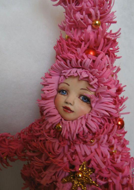 Коллекционные куклы ручной работы. Ярмарка Мастеров - ручная работа. Купить Елочка розовая. Handmade. Розовый, фоамиран