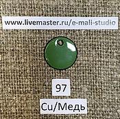 Материалы для творчества handmade. Livemaster - original item Enamel opaque Linden Leaf Green No.97 Dulevo. Handmade.