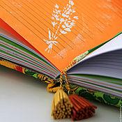 """Канцелярские товары ручной работы. Ярмарка Мастеров - ручная работа """"Все время солнце"""" ежедневник блокнот с нуля. Handmade."""