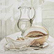 """Картины и панно ручной работы. Ярмарка Мастеров - ручная работа акварель """"Десерт"""". Handmade."""