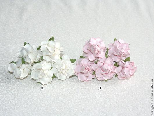 Открытки и скрапбукинг ручной работы. Ярмарка Мастеров - ручная работа. Купить 5 шт. Бумажные цветы 3,5 см. Handmade.