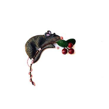 """Украшения ручной работы. Ярмарка Мастеров - ручная работа Брошь """"Крысёнок"""". Handmade."""