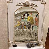 Для дома и интерьера ручной работы. Ярмарка Мастеров - ручная работа Зеркало с полочкой  Прованс. Handmade.