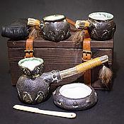 """Посуда ручной работы. Ярмарка Мастеров - ручная работа Кофейный набор для двоих """"Хофету ди"""" в сундучке. Handmade."""