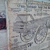 Картины и панно ручной работы. Ярмарка Мастеров - ручная работа Панно деревянное 30х40 состаренное Ретро-авто-7. Handmade.