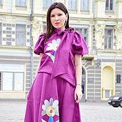 Одежда handmade. Livemaster - original item Embroidered skirt and blouse-top. Handmade.