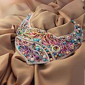 Колье ручной работы. Ярмарка Мастеров - ручная работа Andromeda. Авторское колье из бисера шибори бусин шелк. Handmade.