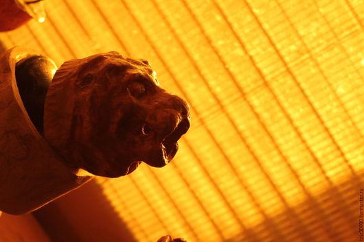 """Элементы интерьера ручной работы. Ярмарка Мастеров - ручная работа. Купить Ручка для двери """"голова льва"""". Handmade. Бежевый"""