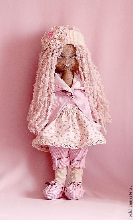 Коллекционные куклы ручной работы. Ярмарка Мастеров - ручная работа. Купить Розовая кукла. Handmade. Кремовый, текстильная кукла, подарок