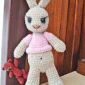 Куклы и игрушки ручной работы. Ярмарка Мастеров - ручная работа Зайка с мишкой. Handmade.