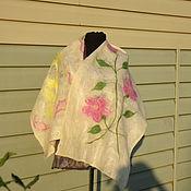 Одежда ручной работы. Ярмарка Мастеров - ручная работа шарф на маргиланском шелке. Handmade.