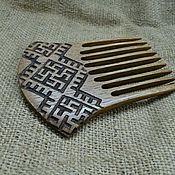 """Гребни ручной работы. Ярмарка Мастеров - ручная работа Гребень """"Цветок папоротника"""", деревянный гребень. Handmade."""