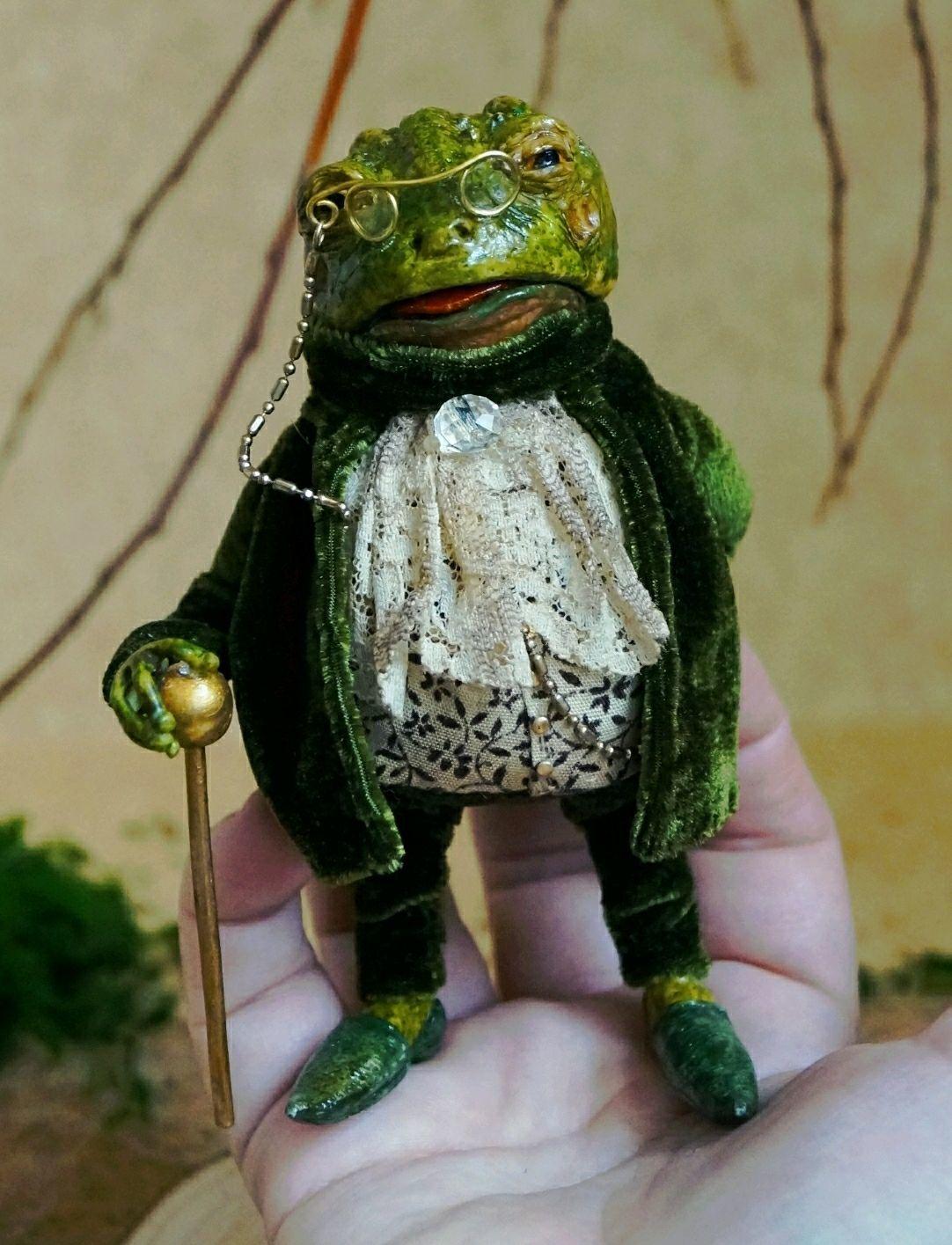 Мистер Тоуд! Он же Жаба, Жабби, Джабс или Жаб!, Портретная кукла, Москва,  Фото №1