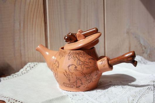 Чайники, кофейники ручной работы. Ярмарка Мастеров - ручная работа. Купить Чайник керамический Китайский. Handmade. Бежевый, китай, бамбук