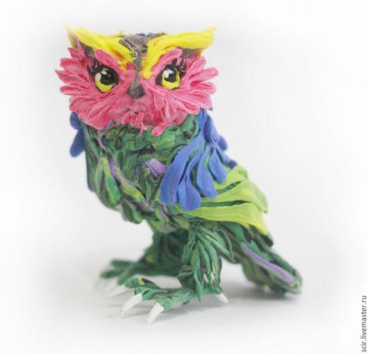 """Игрушки животные, ручной работы. Ярмарка Мастеров - ручная работа. Купить фигурка """"радужная сова"""" (филин радуги; статуэтка совы). Handmade."""