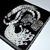 Украшения handmade. Livemaster - original item Necklace with a Moonstone brush WINTER TALE Authors work. Handmade.