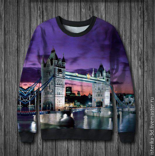 """Кофты и свитера ручной работы. Ярмарка Мастеров - ручная работа. Купить Свитшот с принтом """"Города мира. Лондон"""" - отличный подарок. Handmade."""