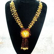 Украшения handmade. Livemaster - original item Amber beads decoration natural stone amber Baltic. Handmade.