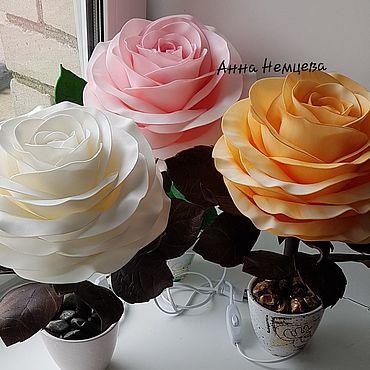 Для дома и интерьера ручной работы. Ярмарка Мастеров - ручная работа Цветы-светильники. Handmade.