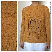 Одежда ручной работы. Ярмарка Мастеров - ручная работа Комплект женский Шафран, желтый, японский ажур, 100% итальянский акрил. Handmade.