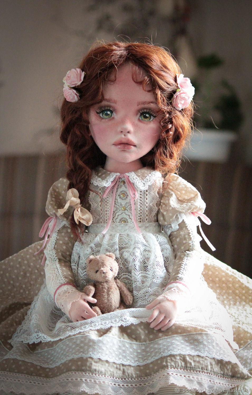 Бэлла.Текстильная кукла, Шарнирная кукла, Великий Новгород,  Фото №1