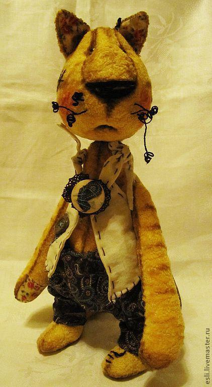 Мишки Тедди ручной работы. Ярмарка Мастеров - ручная работа. Купить Тигра. Handmade. Желтый, винтажный плюш