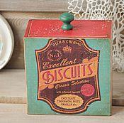 """Для дома и интерьера ручной работы. Ярмарка Мастеров - ручная работа Короб деревянный для хранения прованс """"Biscuits"""" декупаж. Handmade."""