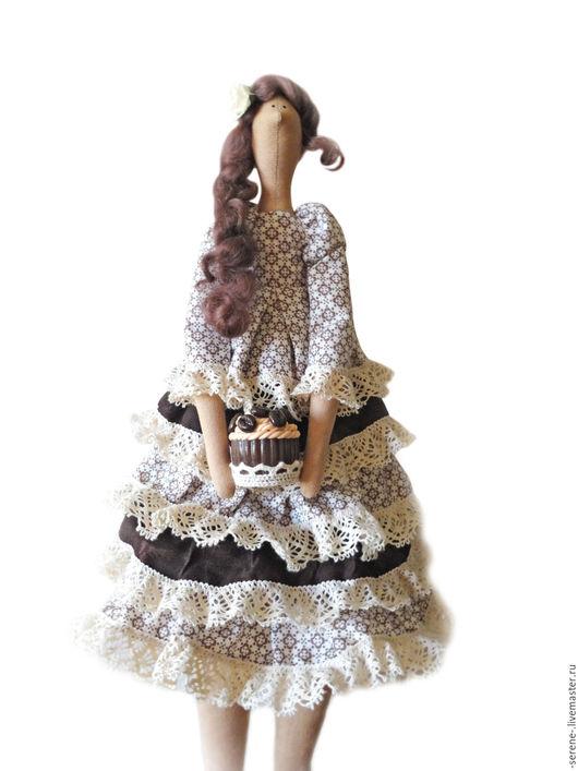 Куклы Тильды ручной работы. Ярмарка Мастеров - ручная работа. Купить Тильда кофейная. Handmade. Коричневый, кукла Тильда, кофейная