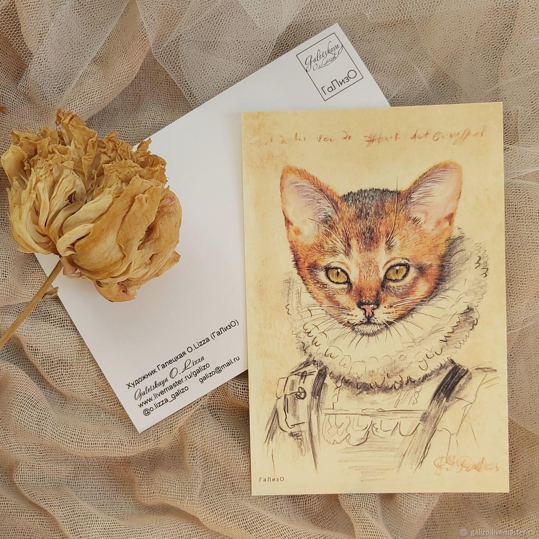 """по авторской иллюстрации """"Кошка Рубенса"""", Открытки, Москва,  Фото №1"""