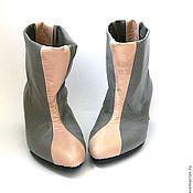 """Обувь ручной работы. Ярмарка Мастеров - ручная работа Ботильоны """"Серая мышка"""". Handmade."""