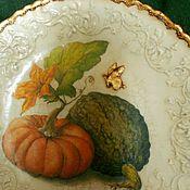 """Посуда ручной работы. Ярмарка Мастеров - ручная работа Набор настенных тарелок """" Тыква для золушки"""". Handmade."""