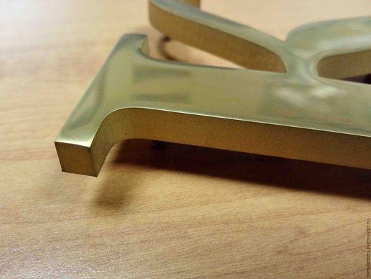 Дизайн экстерьера ручной работы. Ярмарка Мастеров - ручная работа. Купить Буквы из нержавеющего металла в нитрид титане. Handmade.