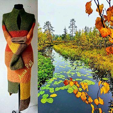 """Одежда ручной работы. Ярмарка Мастеров - ручная работа Платье """"Осень"""" из Дворянской Шерсти. Handmade."""