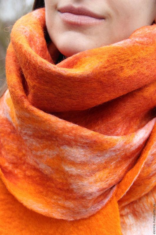 """Шарфы и шарфики ручной работы. Ярмарка Мастеров - ручная работа. Купить Валяный шарф """"Лис"""". Handmade. Рыжий, подарок на новый год"""