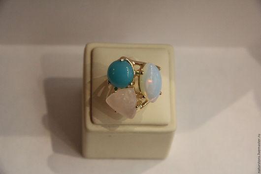 Кольца ручной работы. Ярмарка Мастеров - ручная работа. Купить кольцо из натуральных камней. Handmade. Комбинированный, микс камней