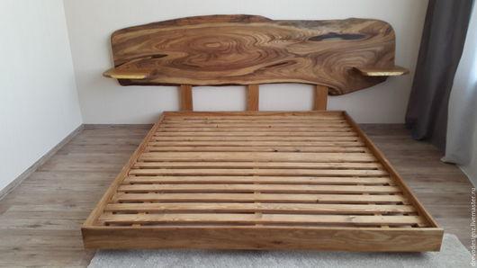 Мебель ручной работы. Ярмарка Мастеров - ручная работа. Купить Кровать в эко стиле. Handmade. Коричневый, кровать на заказ