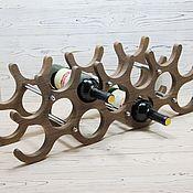 handmade. Livemaster - original item Stand-rack made of natural wood for 14 bottles. Handmade.