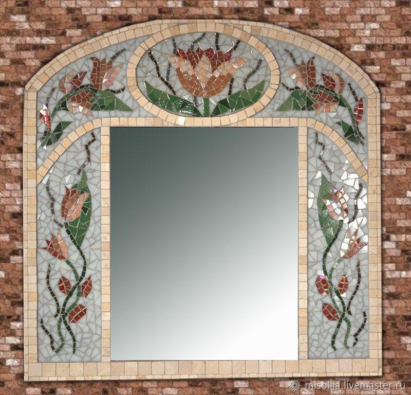 "Зеркало. Мозаика ""Тюльпан"" 60х61 см, Зеркала, Пушкино,  Фото №1"