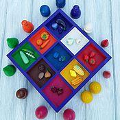 Куклы и игрушки ручной работы. Ярмарка Мастеров - ручная работа Набор для малышей Изучаем цвета и овощи, фрукты. Handmade.