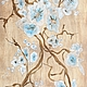 картина панно на дереве деревянное дизайн интерьера картина на заказ коричневый бирюзовый