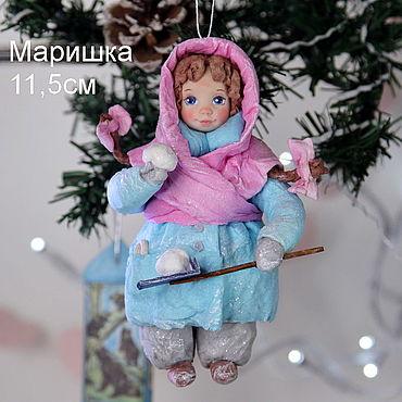 Куклы и игрушки ручной работы. Ярмарка Мастеров - ручная работа Ватная игрушка. Маришка. Handmade.