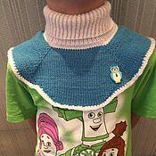 Шарфы ручной работы. Ярмарка Мастеров - ручная работа Детская манишка (шарф снуд). Handmade.