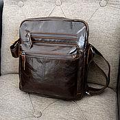 Сумки и аксессуары handmade. Livemaster - original item Crossbody bag men`s genuine leather Macarius, buy. Handmade.
