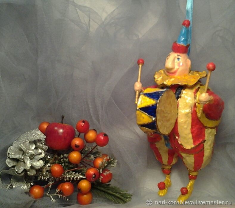 Dolls and dolls: Cotton toy for the Christmas tree ' Clown', Dolls, Moscow,  Фото №1