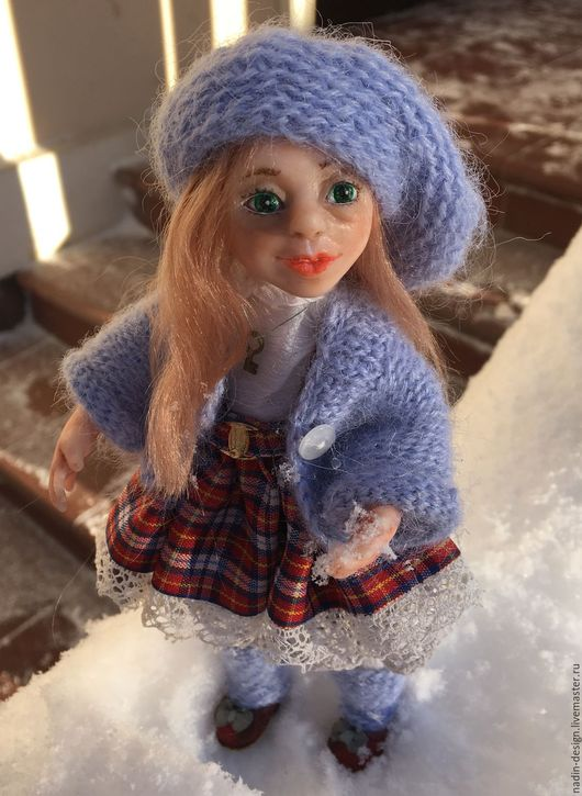 Коллекционные куклы ручной работы. Ярмарка Мастеров - ручная работа. Купить Любаша. Handmade. Голубой, девочка, кукла в подарок