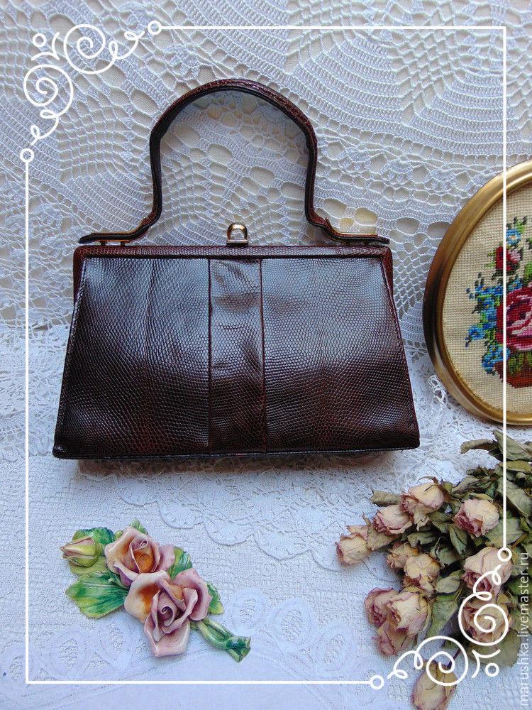 Винтаж: Сумка-ридикюль из кожи, винтаж, Австрия, Винтажные сумки, Грац, Фото №1