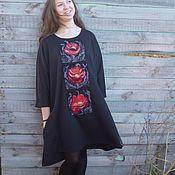 Одежда handmade. Livemaster - original item Extra long women`s tunic Maki(2). Handmade.