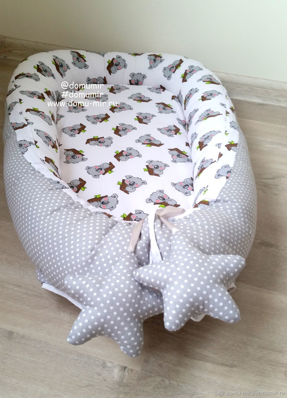 1bc34da30531 Детская ручной работы. Ярмарка Мастеров - ручная работа. Купить Гнездо  кокон для новорожденного двустороннее ...