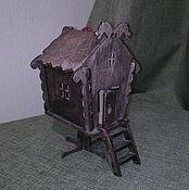 Куклы и игрушки ручной работы. Ярмарка Мастеров - ручная работа Домик Бабы Яги. Handmade.